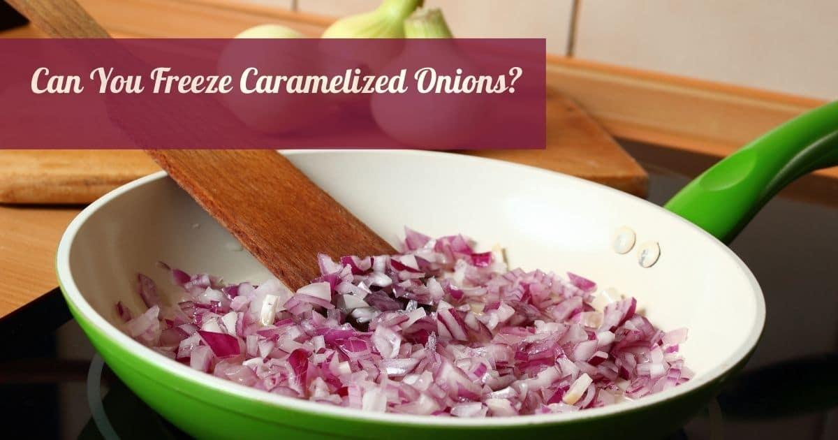 Caramelizing onions.