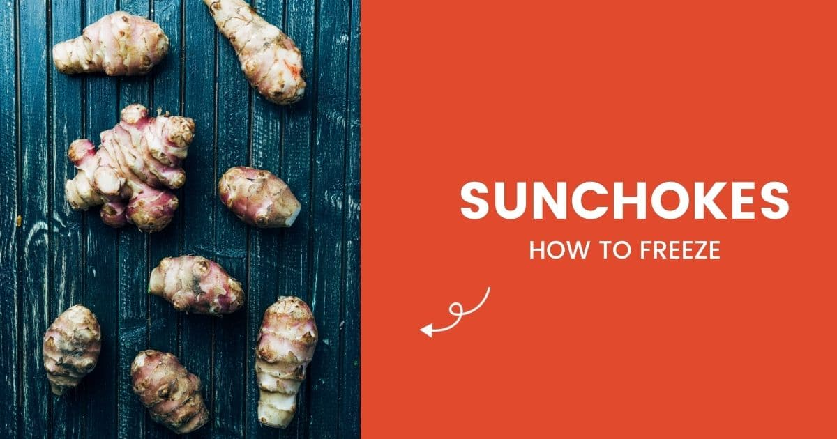 "Uncooked sunchokes and the words ""how to freeze"""