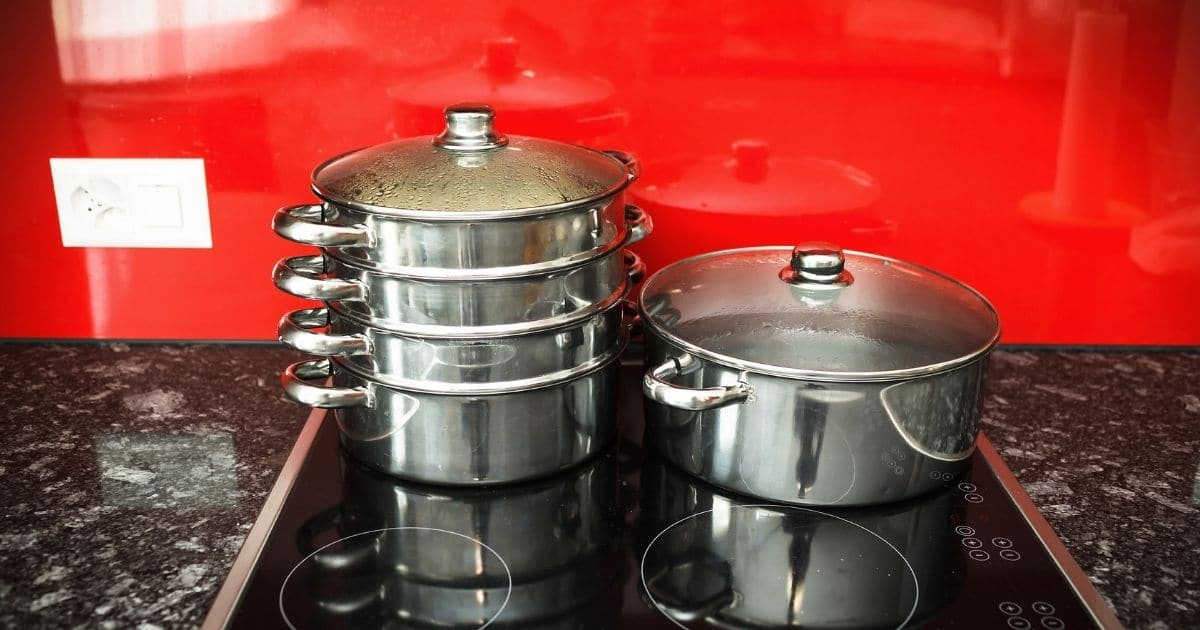A steamer on a stove