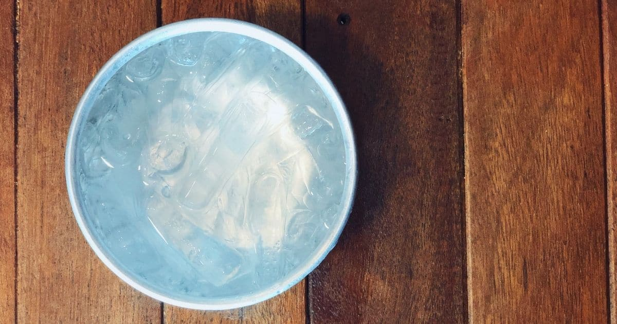 A bowl of cold icy water